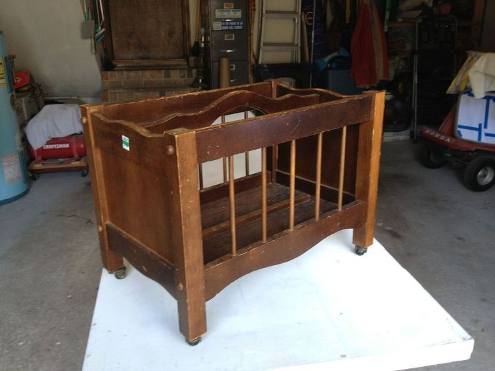 magazine rack to baby doll crib, diy, repurposing upcycling