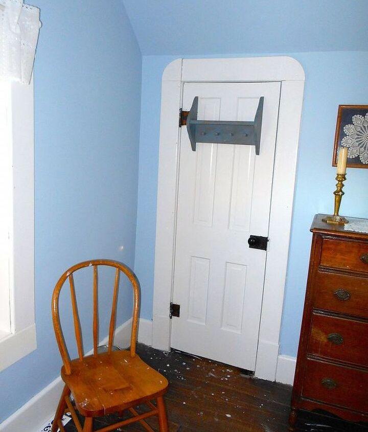 Fairly decent closet behind that door.