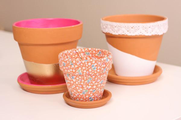 4 easy ways to dress up a terra cotta pot, crafts