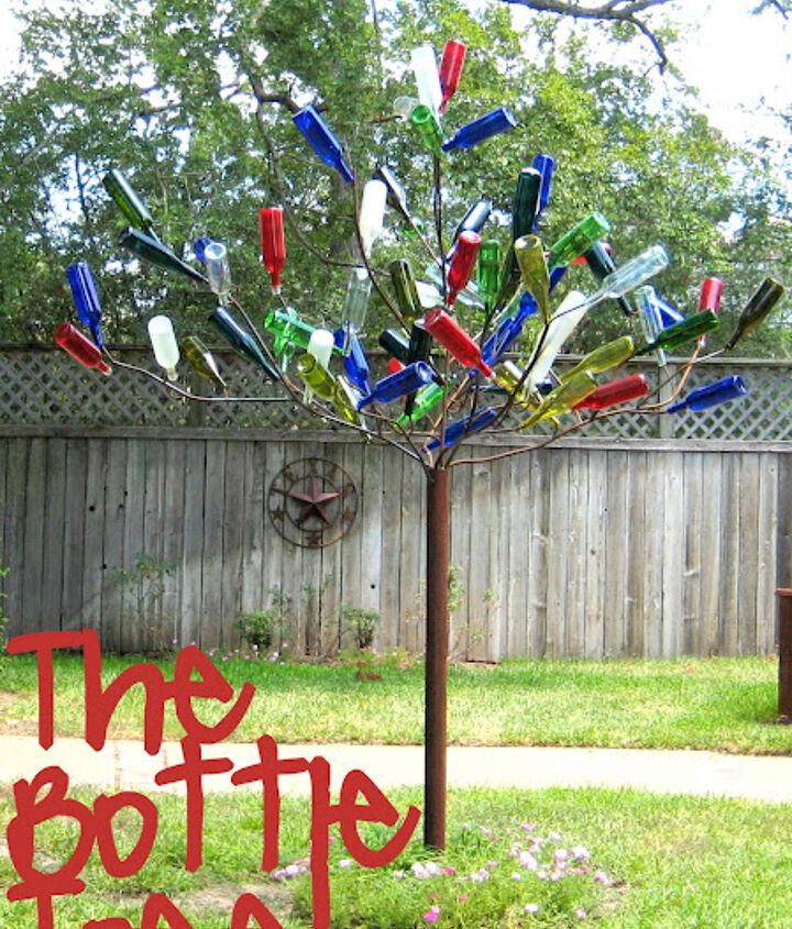 diy bottle tree, gardening