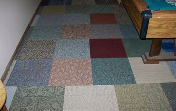 Carpet Squares in Basement