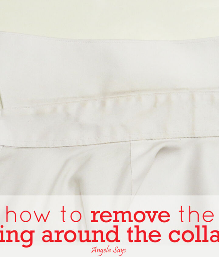 how to easily remove a shirt collar stain, cleaning tips