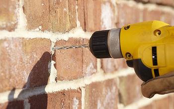 Properly drilling into brick