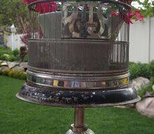 turning a floor lamp into a birdcage stand, flowers, gardening, outdoor living, repurposing upcycling