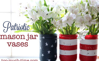 mason jar flag, crafts, mason jars, patriotic decor ideas, seasonal holiday decor