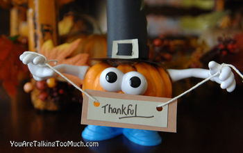 Punkin' Head Place-card holders. Perfect for the kids table!