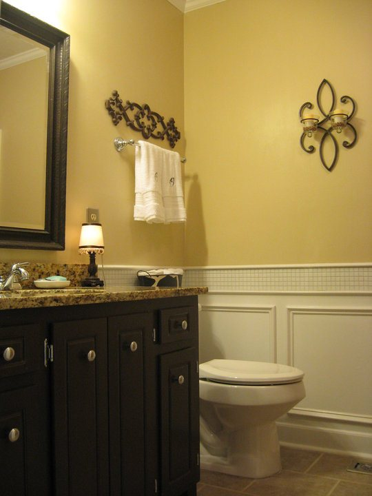before (I put up the wainscoting a few years back)