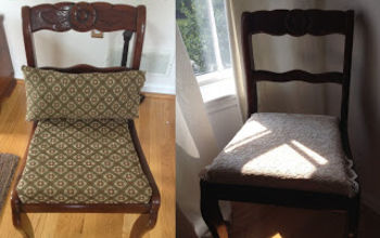 chair makeover, painted furniture, From old to new