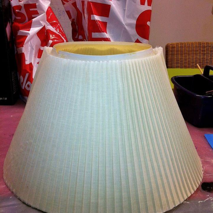 lampshade update, crafts