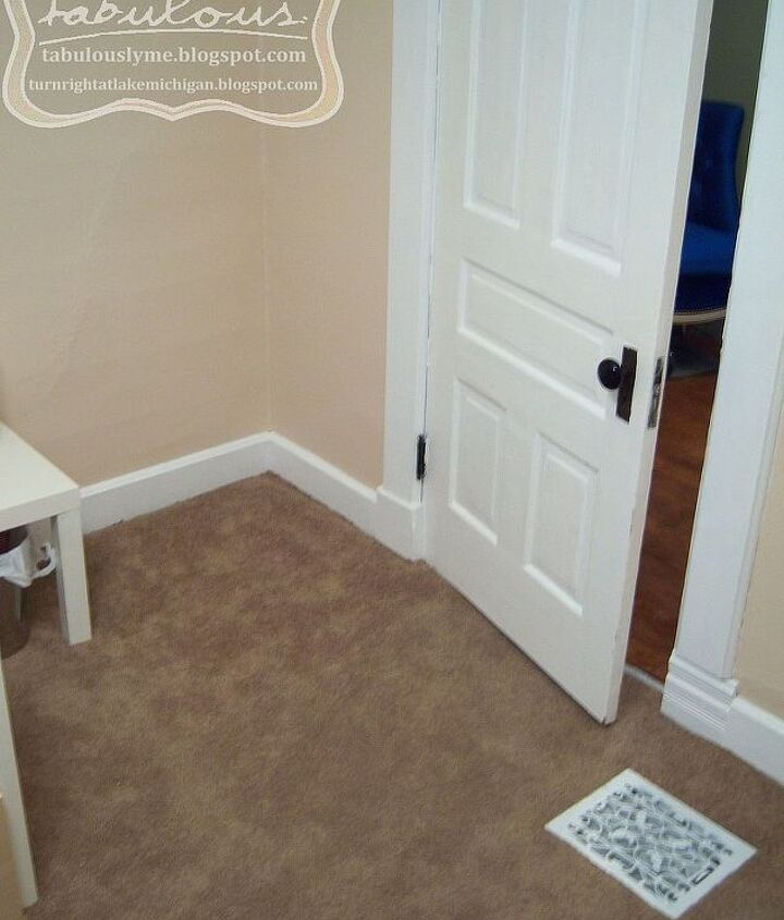 The doomed carpet. It was nice on the feet, but the cats quickly ruined that, causing us to always have the door shut.