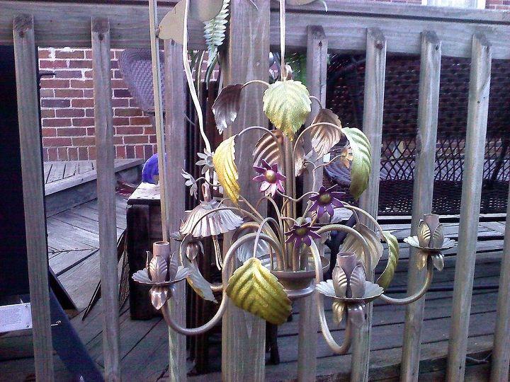flea market light fixture for my deck, decks, lighting, mason jars, outdoor living, repurposing upcycling