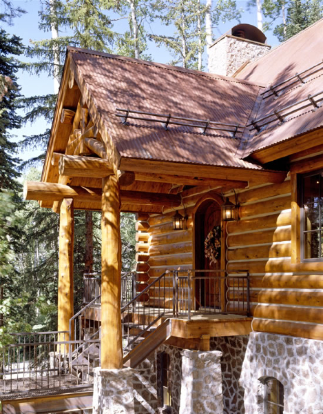 Exteriors Of Log Cabins Homes Architecture The Portico This Cedar Siding And Stone