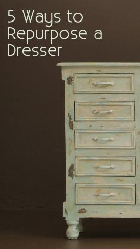 5 ways to repurpose a dresser, painted furniture, repurposing upcycling