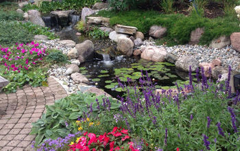 bringing your pond close to your patio, landscape, ponds water features, Patio Pond