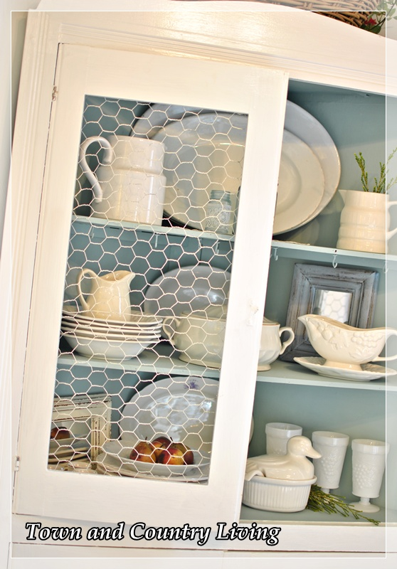 Replacing Glass In A Cabinet With Chicken Wire Hometalk