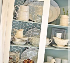 Replacing Glass In A Cabinet With Chicken Wire, Home Decor, Kitchen Cabinets,  It