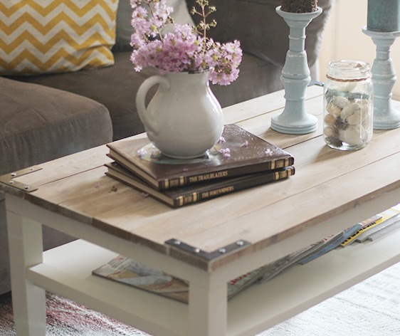 Diy Planked Farm Style Coffee Table Painted Furniture Repurposing Upcycling Woodworking