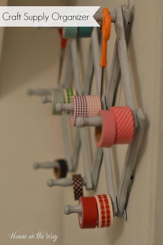 Vintage Accordion Hanger Makes a great Washi Tape Organizer