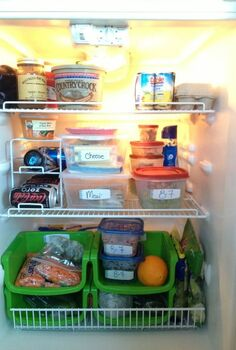 thanks to everyone who answered my refrigerator question, After fridge organization