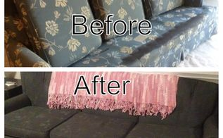 painted couch couch goes from ugly to cute in just a few hours, painted furniture, My Painted Couch