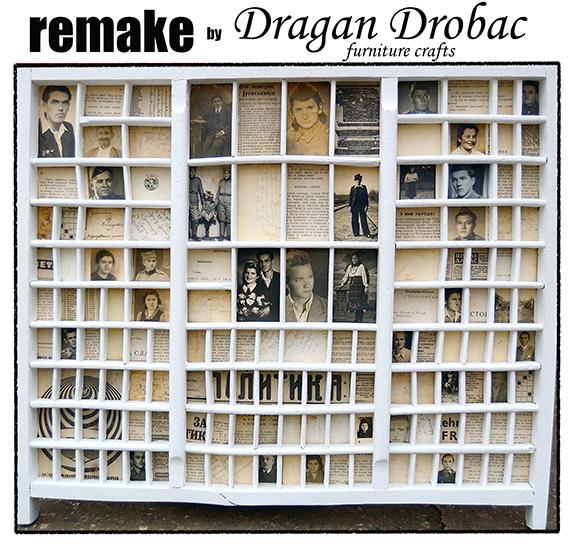 Old printers tray, remake by Dragan Drobac furniture crafts