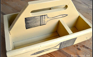 diy craft tote, crafts, woodworking projects