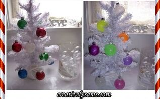glitter ornaments, christmas decorations, seasonal holiday decor, Glitter Christmas Ornaments done with jewel tones neon