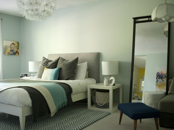 diy headboard for under 30, bedroom ideas, diy, how to, painted furniture, repurposing upcycling, Completed headboard