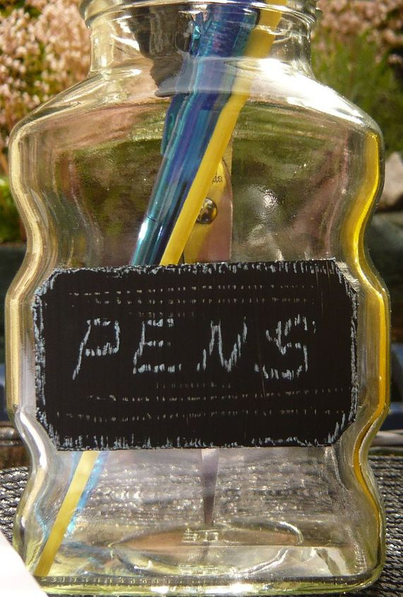 diy chalkboard mason jar pen holder tutorial, chalkboard paint, crafts, mason jars