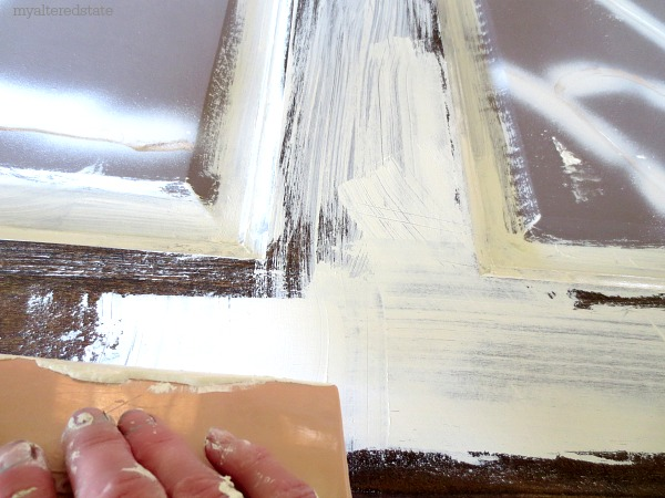 texture and layering painting technique, painted furniture