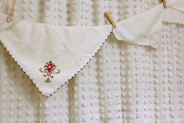 Shower Curtain Made From Vintage Bedspread   Hometalk