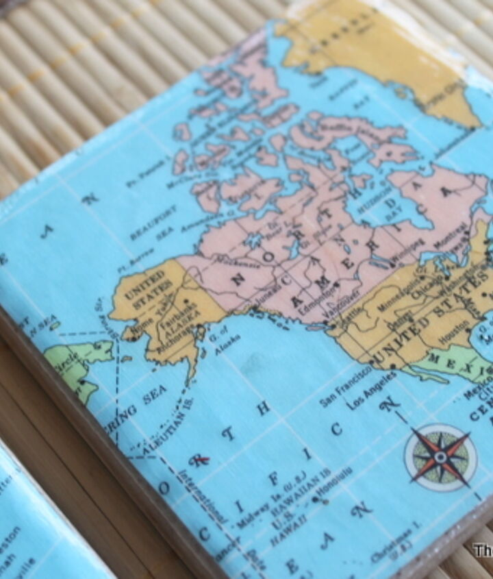 """I used different maps to """"zoom"""" down to our location.  http://www.thecountrychiccottage.net/2012/07/diy-map-coasters.html"""