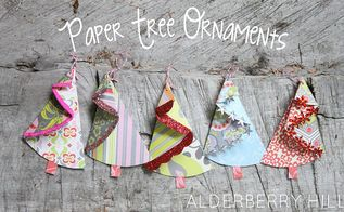 paper treee ornaments, christmas decorations, crafts, seasonal holiday decor