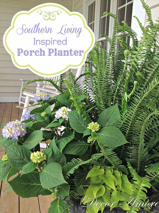 southern living inspired porch planter, container gardening, gardening, The 2012 Southern Living Idea House porch containers were my inspiration