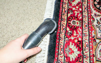 how to vacuum oriental rugs, cleaning tips, flooring, Use the hand tool to gently clean the fringes