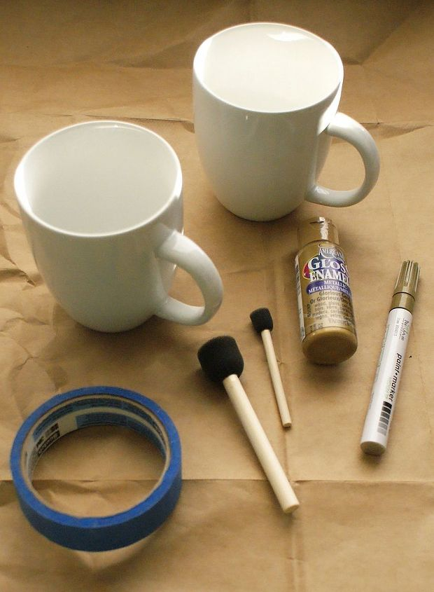 What you'll need: Oven safe mug, Ceramic paint, paint pen, or sharpie, Painter's tape (optional), Oven.
