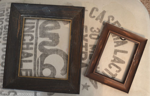 two junk frames turned one vintage glam frame, home decor, repurposing upcycling
