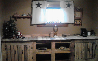 pallet solutions dining room wall cabinet, kitchen cabinets, pallet, repurposing upcycling, shelving ideas, storage ideas