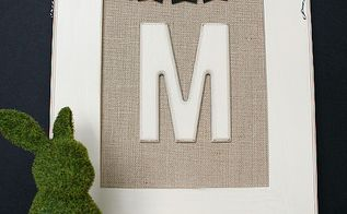 diy monogrammed burlap canvas, chalkboard paint, crafts, A sweet DIY Monogrammed BUrlap Canvas
