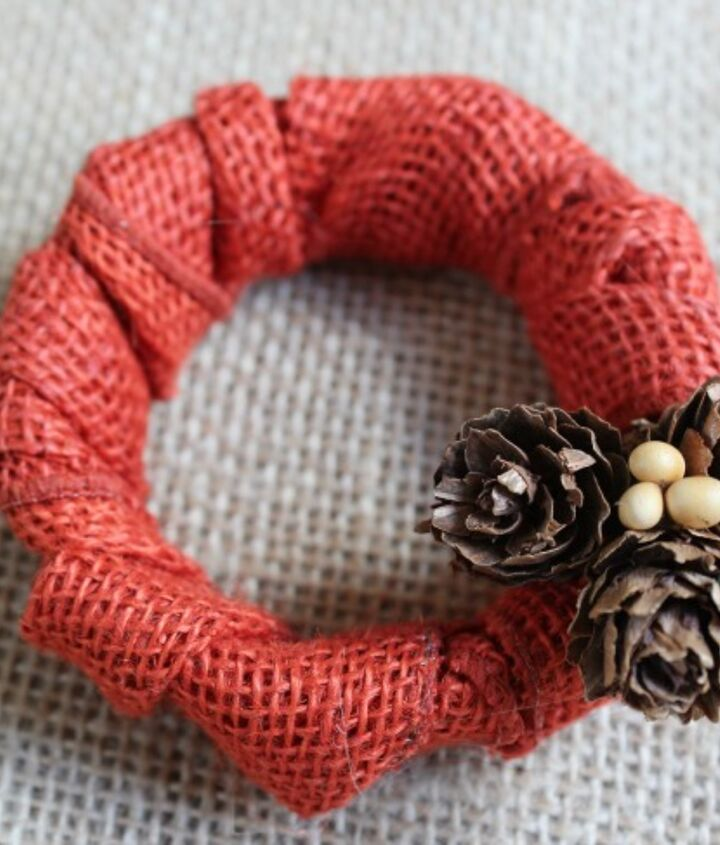 Add some fun Fall embellishments to your mini wreaths.