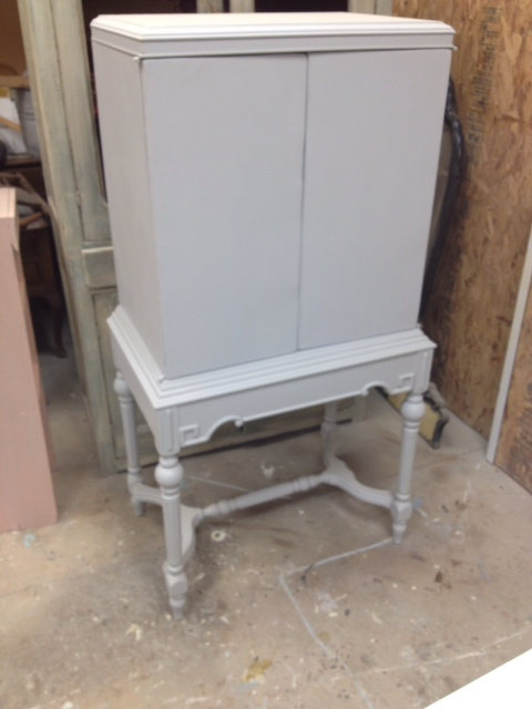picture cabinet with typography, painted furniture