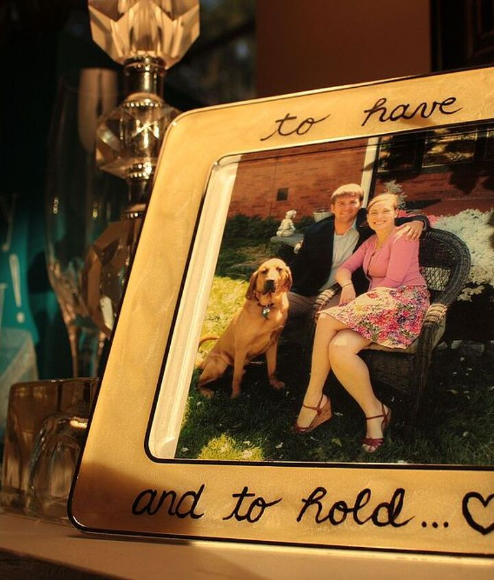 One of their favorite pictures found a home in a new frame, with a hand-painted message.