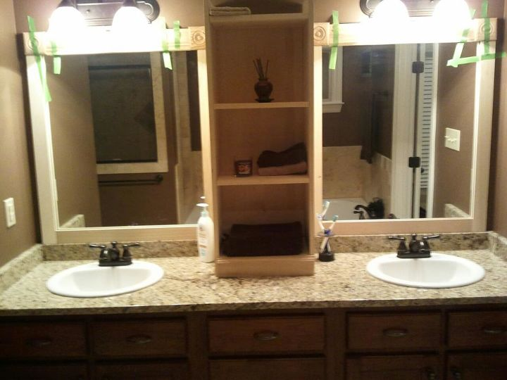 Finest I used this idea and revamped my large bathroom mirror this ZO08