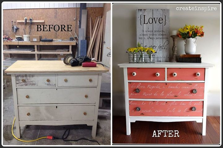 dresser rescue, painted furniture