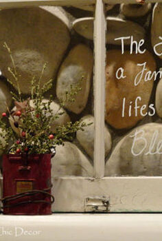 a vintage christmas mantel, christmas decorations, fireplaces mantels, repurposing upcycling, seasonal holiday decor, windows