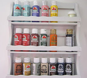wood spice rack upcycled into paint storage craft rooms repurposing upcycling storage ideas & Wood Spice Rack Upcycled Into Paint Storage | Hometalk