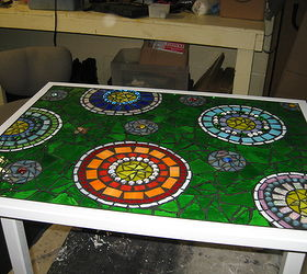 Stained Glass Mosaic Patio Table, Painted Furniture, Tiling, This Is The  Finished Table