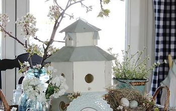 Spring Birdhouse Tablescape