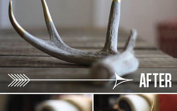 Updating Antlers With a Gold Twist!
