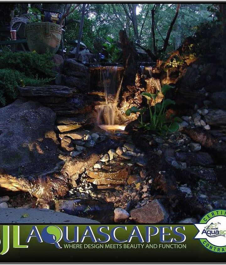Perfect fit for any budget, this micro pondless waterfall with LED Lighting can fit in any corner of your yard ! This one is in Monmouth County New Jersey